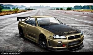 Nissan Skyline GTR R34 by ilPoli