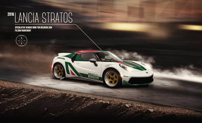 2016 Lancia Stratos speculative render by ilPoli