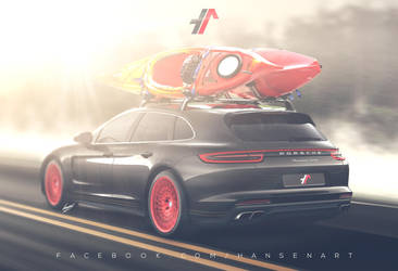 Porsche Panamera Shooting Brake speculative render by ilPoli