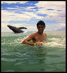Miguel n Whale by philinchilin