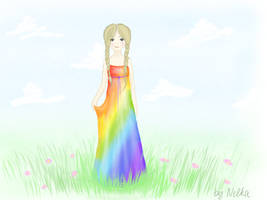 girl-rainbow by nellysunshine