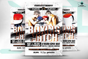 Boxing Flyer PSD by GraphicDiamonds