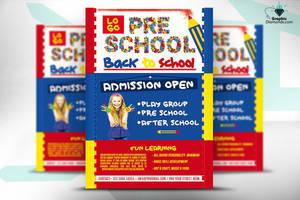 PreSchool Back To School Flyer by GraphicDiamonds