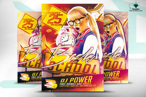 Back to school Flyer PSD by GraphicDiamonds