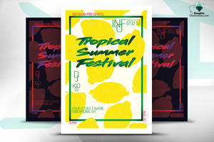 Tropical Summer Flyer by GraphicDiamonds