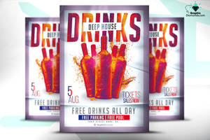 Drinks House Flyer by GraphicDiamonds