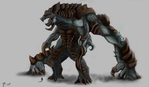 kaiju contest reptillis the lurker by NITEMARE-X