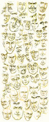 Men's Faces by JoniGodoy