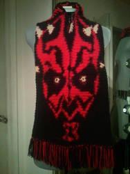 Darth Maul Inspired Custom Crochet Scarf by PlusOneCharisma