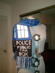 Custom Crochet Doctor Who Inspired TARDIS Scarf by PlusOneCharisma