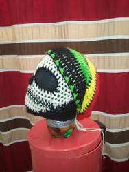 Custom Rasta Cannabis Leaf Slouch Hat by PlusOneCharisma