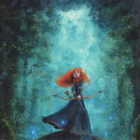Merida (Brave) by EverildWolfden