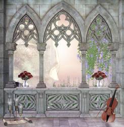 Spring window background by EverildWolfden