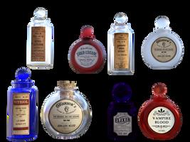 Bottles by EverildWolfden