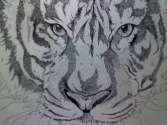 Pointillism Tiger by KimariLz