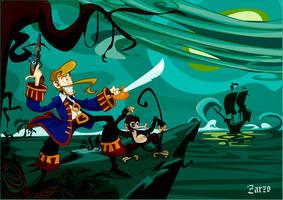 un dia en Monkey island by zarzo