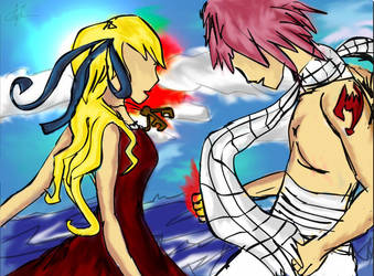 Natsu and Lucy by pumpkinandpie