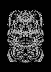 TWO FACES SKULL by SolitGraphic