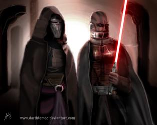 Darth Revan and Darth Malak by DarthTemoc