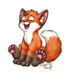 Happy Fox by SilentRavyn