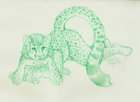 Cheetah Femme Relaxing by SilentRavyn