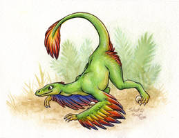 Microraptor by SilentRavyn