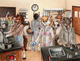Lingerie and Labcoats by SilentRavyn