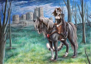 Rider at Twilight by SilentRavyn