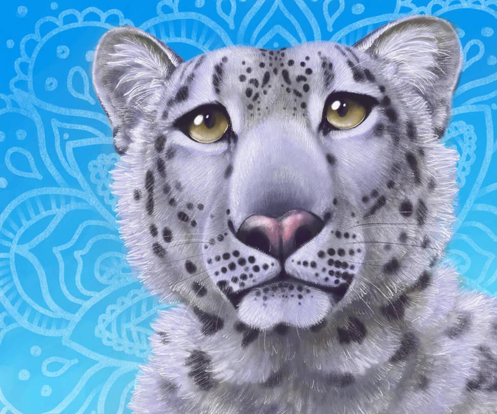 Snow Leopard Mandala by SilentRavyn