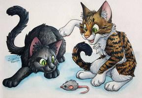Mitzi and Maisie by SilentRavyn