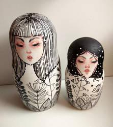 matryoshka dolls by rokkihurtta