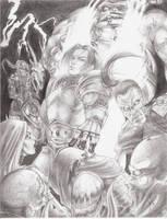 commission WoW battle by lshikawaGoemon