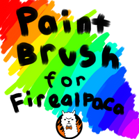 Thick paintbrush brush for FireAlpaca by OmegaWolfDoge