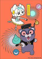 Yo-Kai Spoilerina And Yo-Kai Poofessor by RomainBowen
