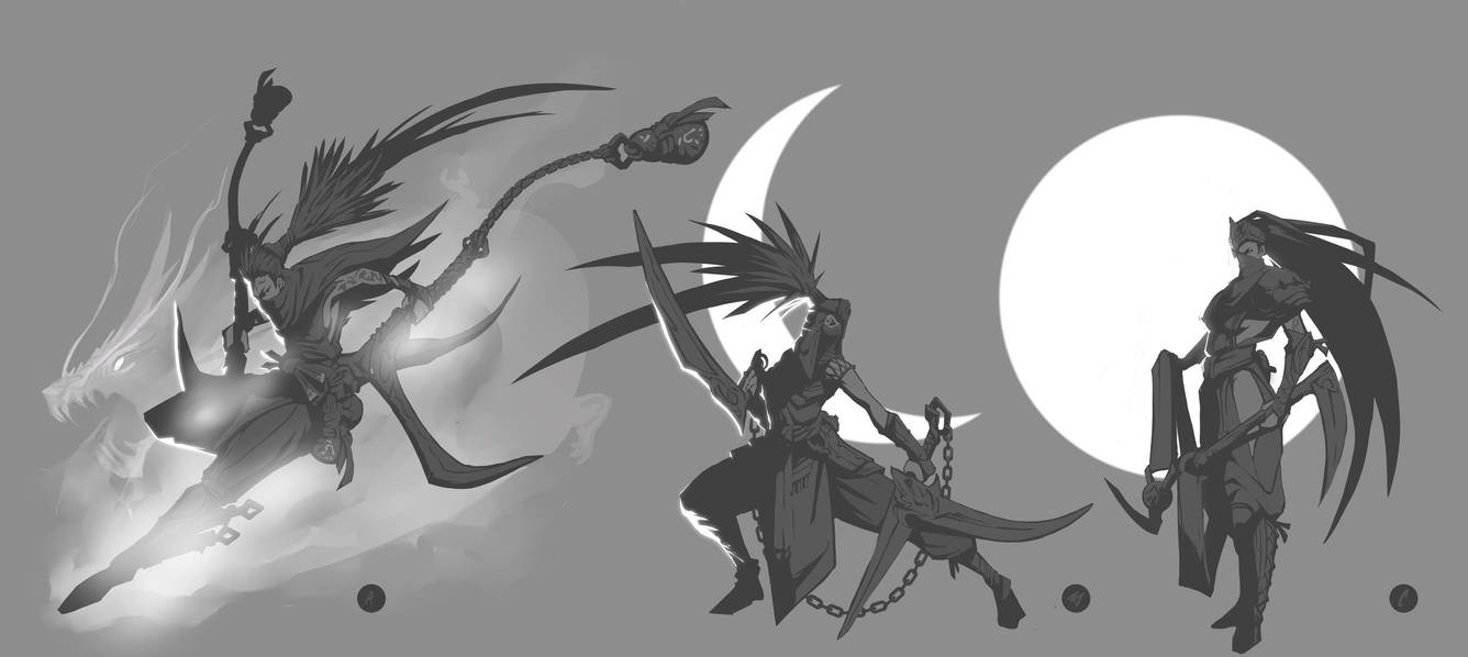 Akali Ideation Sills by The-Bravo-Ray
