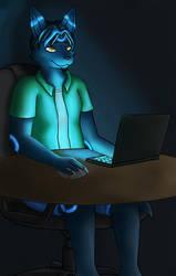 Computer's Glow by tibek