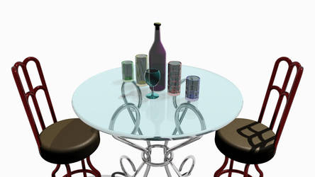 Glasses on Table by Harris2300