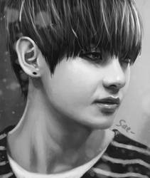 Taehyung portrait by getyourdragon