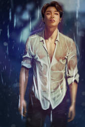 In the rain by getyourdragon