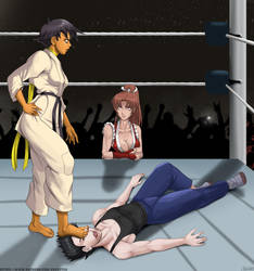 Makoto's warm up match by krabs22