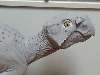 Life size Psittacosaurus model . by Sfoulkes