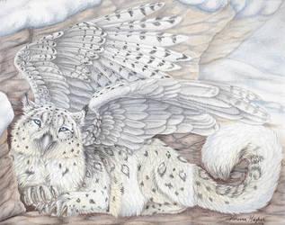 Snowy Gryphon by Sidonie
