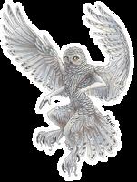 Snowy owl by Sidonie