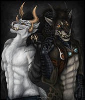Fenrir and Ryuga by Sidonie