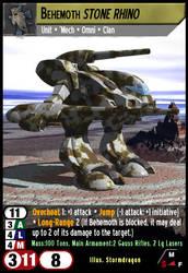 Behemoth Stone Rhino by fidgetlilmeg12
