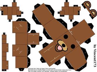 Pedo bear Papercraft by Vincent173