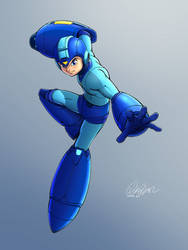 The Blue Bomber Strikes by DANCADA
