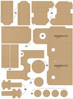 Danboard Papercraft Amazon 02 by Zarzamorita