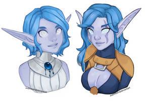 Zaneria and Elluriah busts by AvannTeth