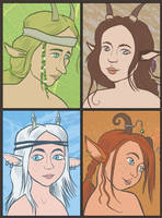 Family of fauns by Pedantia